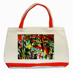 No Warrant For Blossoming Corner Classic Tote Bag (red) by bestdesignintheworld