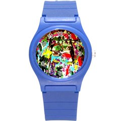 No Warrant For Blossoming Corner Round Plastic Sport Watch (s) by bestdesignintheworld