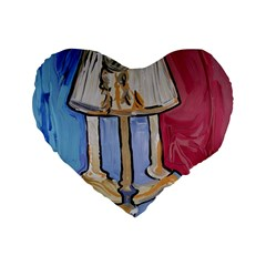 Day And Night Standard 16  Premium Heart Shape Cushions