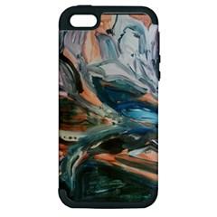 Night Lillies Apple Iphone 5 Hardshell Case (pc+silicone)