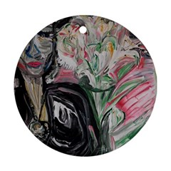 Lady With Lillies Ornament (round)