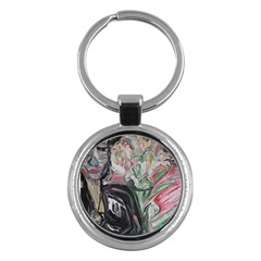 Lady With Lillies Key Chains (round)