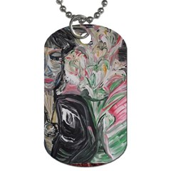 Lady With Lillies Dog Tag (two Sides)