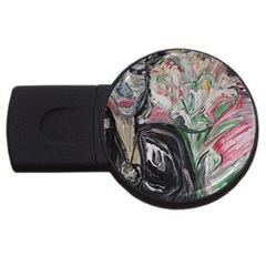 Lady With Lillies Usb Flash Drive Round (2 Gb)