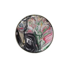 Lady With Lillies Hat Clip Ball Marker (4 Pack)