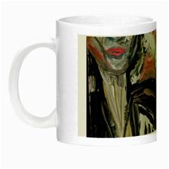 Lady With Lillies Night Luminous Mugs