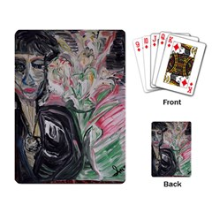 Lady With Lillies Playing Card