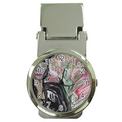 Lady With Lillies Money Clip Watches