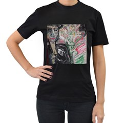 Lady With Lillies Women s T Shirt (black) by bestdesignintheworld