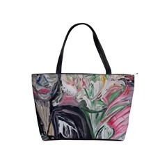 Lady With Lillies Shoulder Handbags
