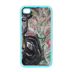 Lady With Lillies Apple Iphone 4 Case (color)