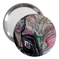Lady With Lillies 3  Handbag Mirrors