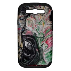 Lady With Lillies Samsung Galaxy S Iii Hardshell Case (pc+silicone) by bestdesignintheworld
