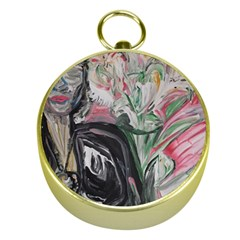 Lady With Lillies Gold Compasses