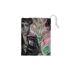 Lady With Lillies Drawstring Pouches (xs)  by bestdesignintheworld