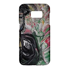 Lady With Lillies Samsung Galaxy S7 Hardshell Case  by bestdesignintheworld
