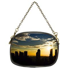 Skyline Sunset Buildings Cityscape Chain Purses (two Sides)