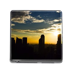 Skyline Sunset Buildings Cityscape Memory Card Reader (square)