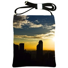 Skyline Sunset Buildings Cityscape Shoulder Sling Bags