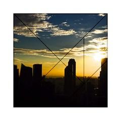 Skyline Sunset Buildings Cityscape Acrylic Tangram Puzzle (6  X 6 )