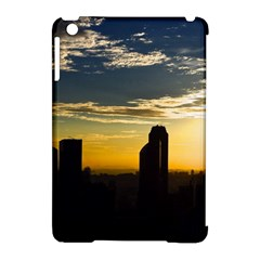 Skyline Sunset Buildings Cityscape Apple Ipad Mini Hardshell Case (compatible With Smart Cover) by Simbadda