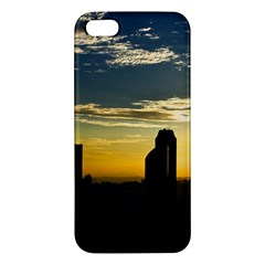 Skyline Sunset Buildings Cityscape Apple Iphone 5 Premium Hardshell Case by Simbadda