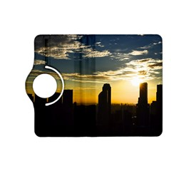 Skyline Sunset Buildings Cityscape Kindle Fire Hd (2013) Flip 360 Case