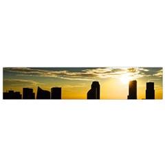 Skyline Sunset Buildings Cityscape Small Flano Scarf by Simbadda