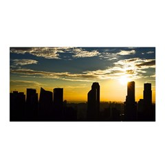 Skyline Sunset Buildings Cityscape Satin Wrap