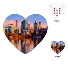 Vancouver Canada Sea Ocean Playing Cards (heart)  by Simbadda