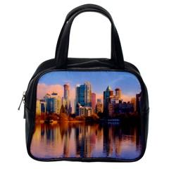 Vancouver Canada Sea Ocean Classic Handbags (one Side) by Simbadda
