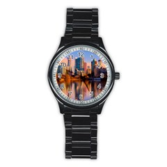 Vancouver Canada Sea Ocean Stainless Steel Round Watch by Simbadda