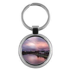 Sunset Melbourne Yarra River Key Chains (round)