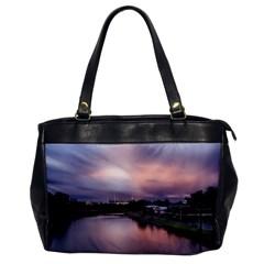 Sunset Melbourne Yarra River Office Handbags
