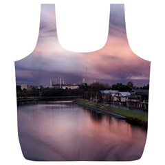 Sunset Melbourne Yarra River Full Print Recycle Bags (l)