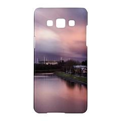 Sunset Melbourne Yarra River Samsung Galaxy A5 Hardshell Case  by Simbadda
