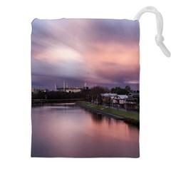 Sunset Melbourne Yarra River Drawstring Pouches (xxl)