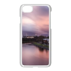 Sunset Melbourne Yarra River Apple Iphone 7 Seamless Case (white)