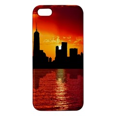 Skyline New York City Sunset Dusk Apple Iphone 5 Premium Hardshell Case