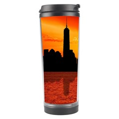 Skyline New York City Sunset Dusk Travel Tumbler by Simbadda