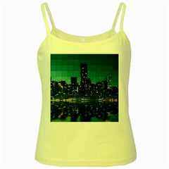 Skyscrapers City Skyscraper Zirkel Yellow Spaghetti Tank