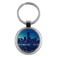 Skyscrapers City Skyscraper Zirkel Key Chains (round)  by Simbadda
