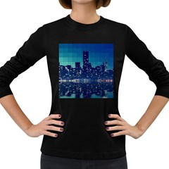 Skyscrapers City Skyscraper Zirkel Women s Long Sleeve Dark T Shirts