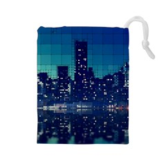 Skyscrapers City Skyscraper Zirkel Drawstring Pouches (large)