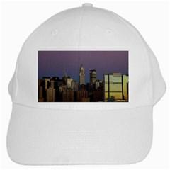 Skyline City Manhattan New York White Cap