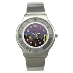 Skyline City Manhattan New York Stainless Steel Watch