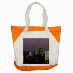 Skyline City Manhattan New York Accent Tote Bag