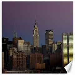 Skyline City Manhattan New York Canvas 20  X 20