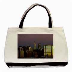 Skyline City Manhattan New York Basic Tote Bag (two Sides)