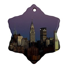 Skyline City Manhattan New York Ornament (snowflake)